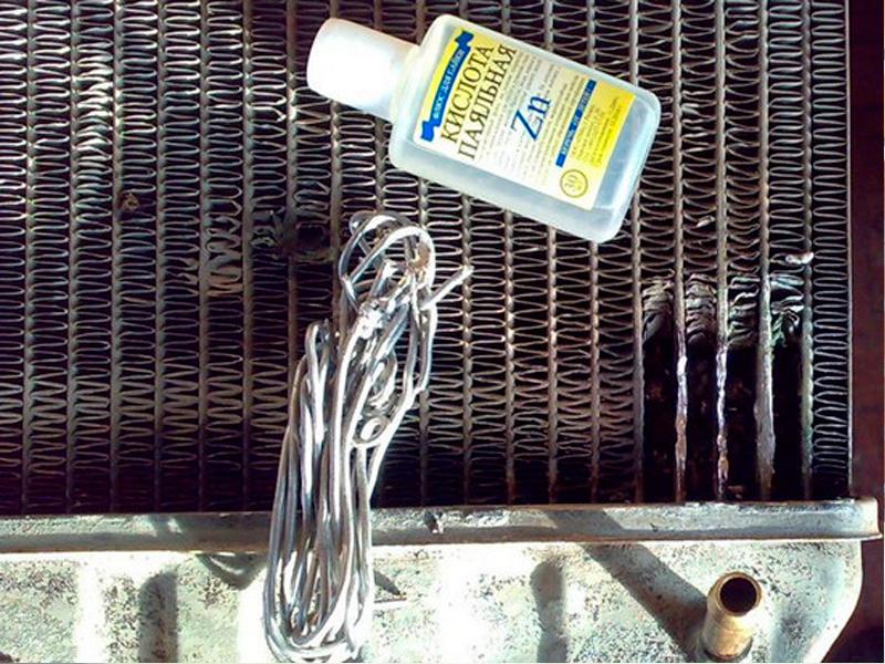 Чем отремонтировать алюминиевый радиатор автомобиля своими руками